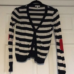 'Delia's' Navy and White Striped Cardigan